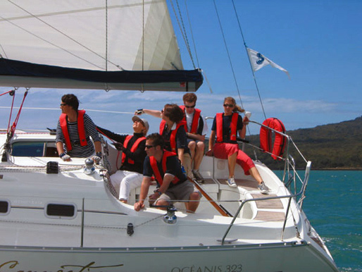 One of the crews sailing with Sailing Away